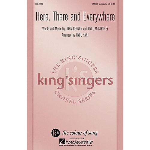 Hal Leonard Here, There And Everywhere SATBBB a cappella by The King's Singers arranged by Paul Hart