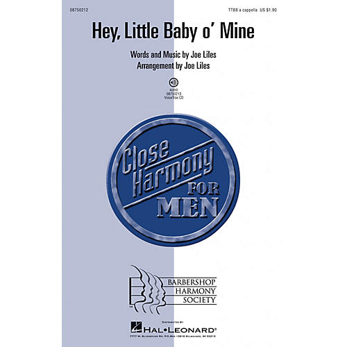 Hal Leonard Hey, Little Baby o' Mine TTBB composed by Joe Liles