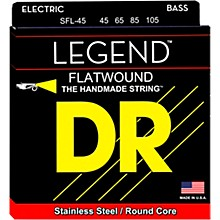 DR Strings Hi-BEAM FLATS Flatwound Stainless Steel Bass Strings Short Scale (45-105)