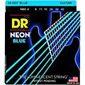 DR Strings Hi-Def NEON Blue Coated Light (9-42) Electric Guitar Strings thumbnail