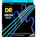 DR Strings Hi-Def NEON Blue Coated Lite 4-String Bass Strings (40-100) thumbnail