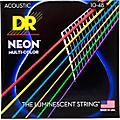 DR Strings Hi-Def NEON Multi-Color Coated Lite Acoustic Guitar Strings thumbnail