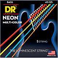 DR Strings Hi-Def NEON Multi-Color Coated Medium 5-String Bass Strings thumbnail