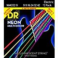 DR Strings Hi-Def NEON Multi-Color Light Electric Guitar Strings (9-42) 2 Pack thumbnail