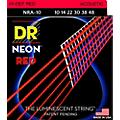 DR Strings Hi-Def NEON Red Coated Lite Acoustic Guitar Strings (10-48) thumbnail