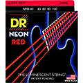 DR Strings Hi-Def NEON Red Coated Lite Bass Strings (40-100) thumbnail