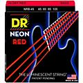 DR Strings Hi-Def NEON Red Coated Medium 4-String (45-105) Bass Guitar Strings thumbnail