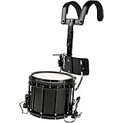 High-Tension Marching Snare Drum with Carrier 14 x 12 Black