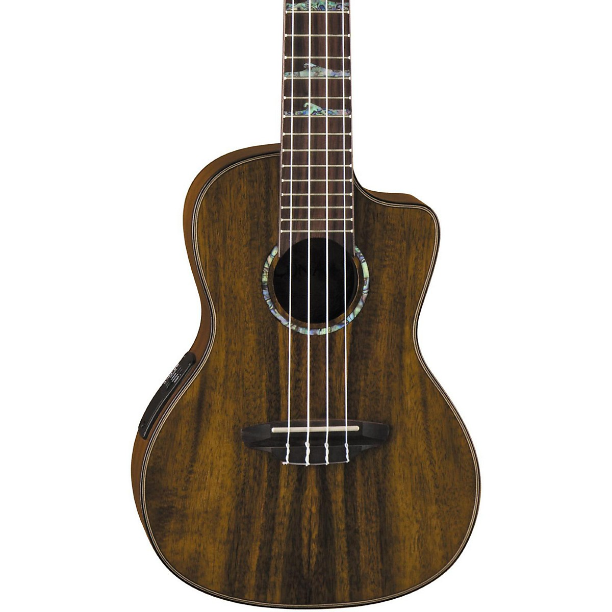 Luna Guitars High Tide Koa Concert Acoustic-Electric Ukulele
