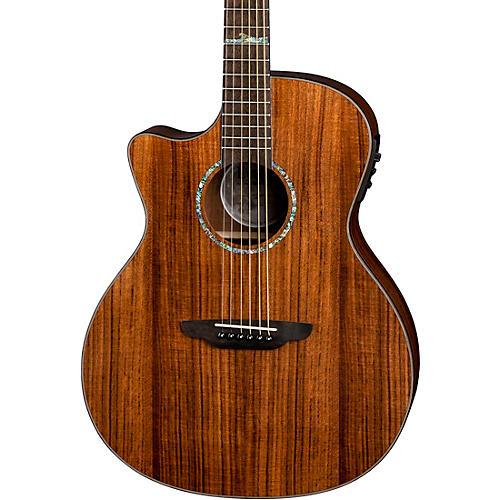 Luna Guitars High Tide Koa Left-Handed Grand Concert Acoustic/Electric Guitar