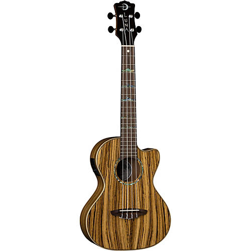 Luna Guitars High Tide Zebra Wood Acoustic-Electric Tenor Ukulele