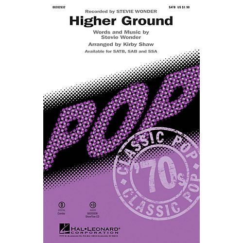 Hal Leonard Higher Ground SATB by Stevie Wonder arranged by Kirby Shaw