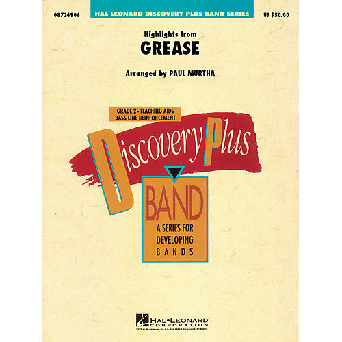 Hal Leonard Highlights from Grease - Discovery Plus Concert Band Series Level 2 arranged by Paul Murtha