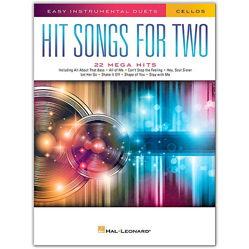 Hal Leonard Hit Songs for Two Cellos - Easy Instrumental Duets