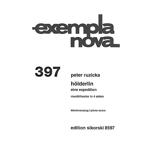 Sikorski Hölderlin (An Expedition Vocal Score) Misc Series  by Peter Ruzicka