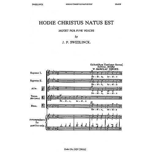 Novello Hodie Christus Natus Est SSATB A Cappella Composed by J.P. Sweelinck