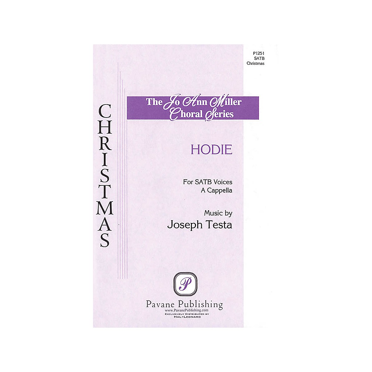 Pavane Hodie SATB composed by Joseph Testa