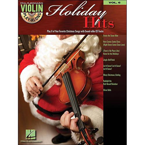 Hal Leonard Holiday Hits Violin Play-Along Volume 6 Book/CD