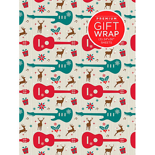 Hal Leonard Holiday Reindeer Guitar Premium Gift Wrapping Paper