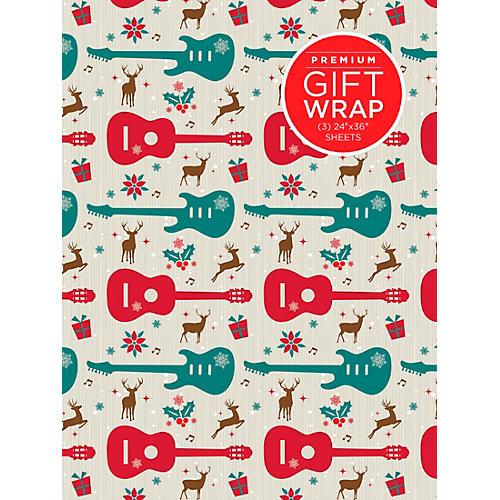 Hal Leonard Holiday Reindeer Guitar Premiun Gift Wrapping Paper