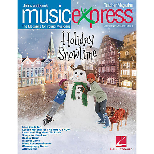 Hal Leonard Holiday Snowtime Vol. 16 No. 3 (December 2015) Teacher Magazine w/CD Arranged by Roger Emerson