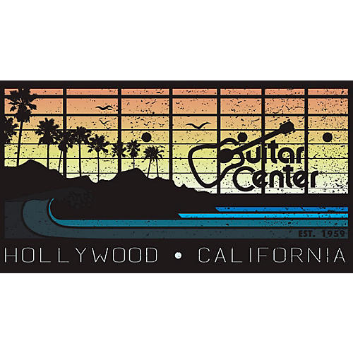 guitar center hollywood california sunset sticker guitar center. Black Bedroom Furniture Sets. Home Design Ideas