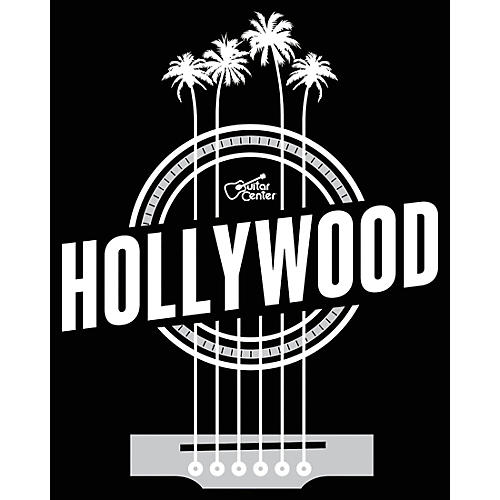 Guitar Center Hollywood Palm Strings - Black/White Magnet