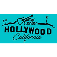 Guitar Center Hollywood Sign - Teal Color Sticker