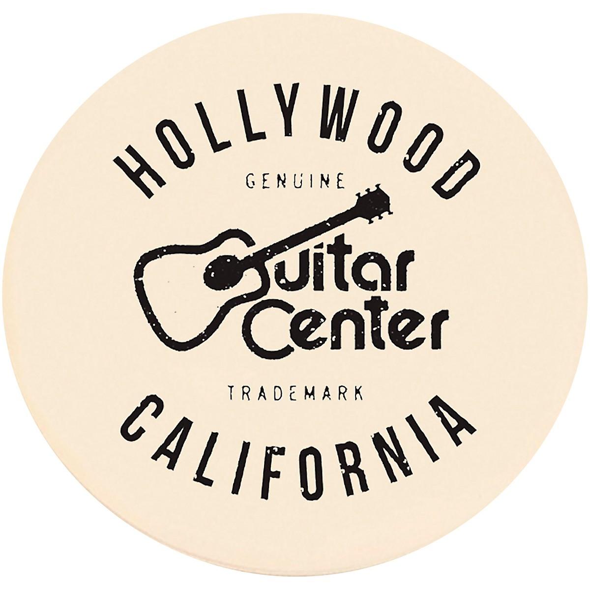 Guitar Center Hollywood Single Round Stone Coaster
