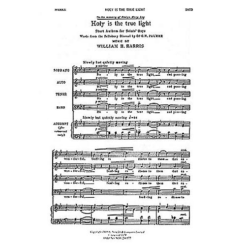 Novello Holy Is the True Light SATB Composed by William H. Harris