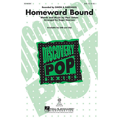 Hal Leonard Homeward Bound SSA by Simon & Garfunkel Arranged by Roger Emerson