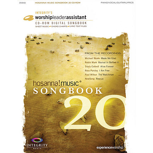 Integrity Music Hosanna! Music Songbook 20 Integrity Series CD-ROM Performed by Various