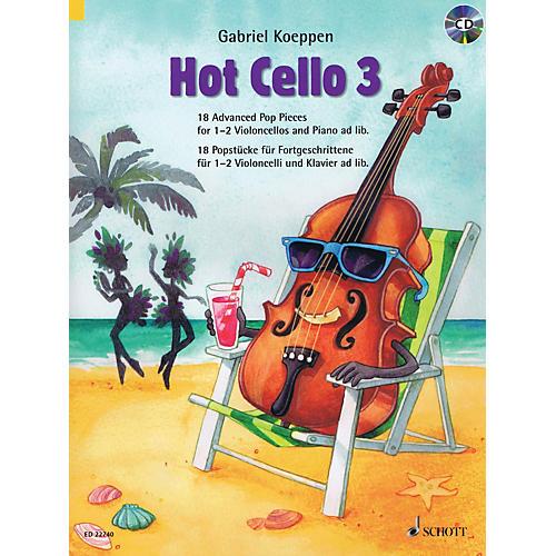 Schott Hot Cello 3 (18 Advanced Pop Pieces) Cello and Piano Book/CD