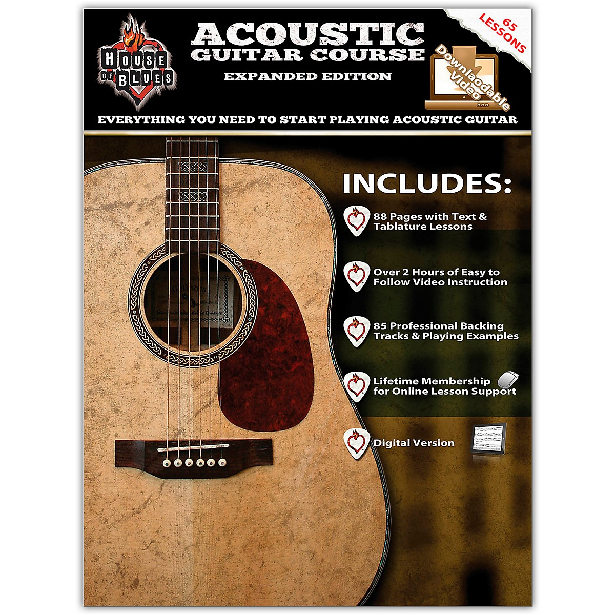 Hal Leonard House Of Blues Acoustic Guitar Course Expanded