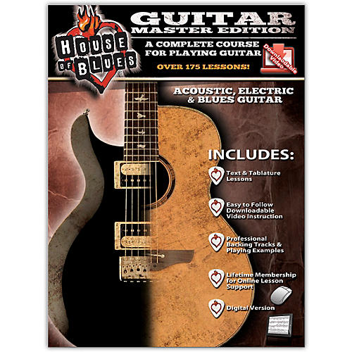 Rock House House of Blues Guitar Master Edition Book/Online Audio & Video