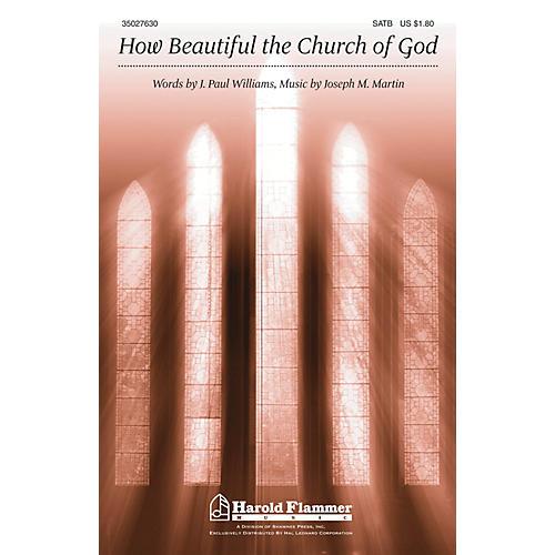 Shawnee Press How Beautiful the Church of God SATB composed by Joseph M. Martin
