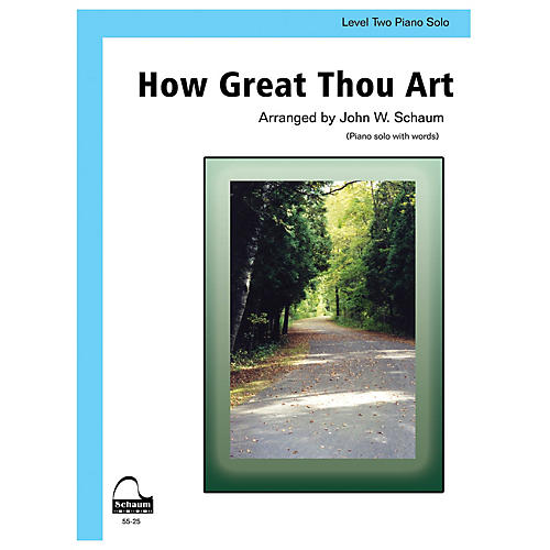 SCHAUM How Great Thou Art Educational Piano Series Softcover