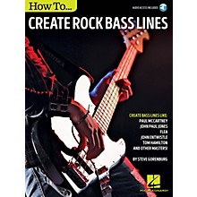 Hal Leonard How to Create Rock Bass Lines Bass Instruction Series Softcover Audio Online Written by Steve Gorenberg