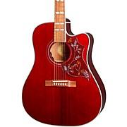 Hummingbird PRO Cutaway Acoustic-Electric Guitar Wine Red