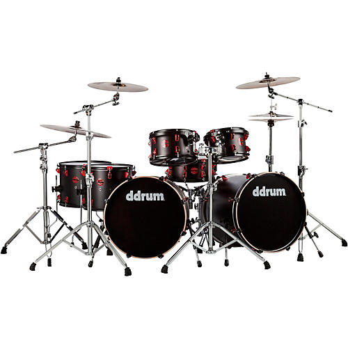 Ddrum Hybrid Acoustic Electric 7 Piece Double Bass Shell