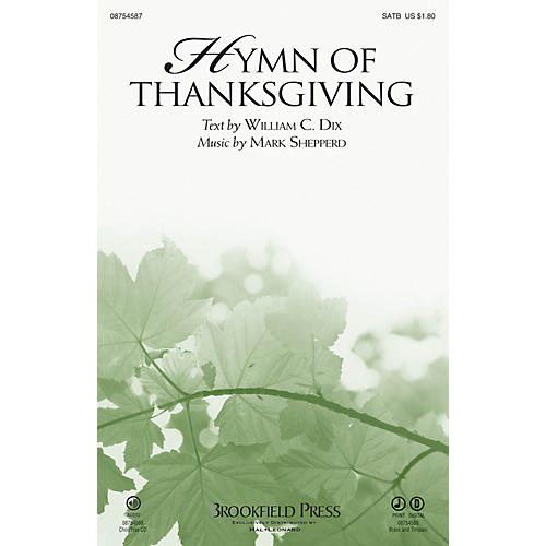 Brookfield Hymn of Thanksgiving CHOIRTRAX CD Composed by Mark Shepperd