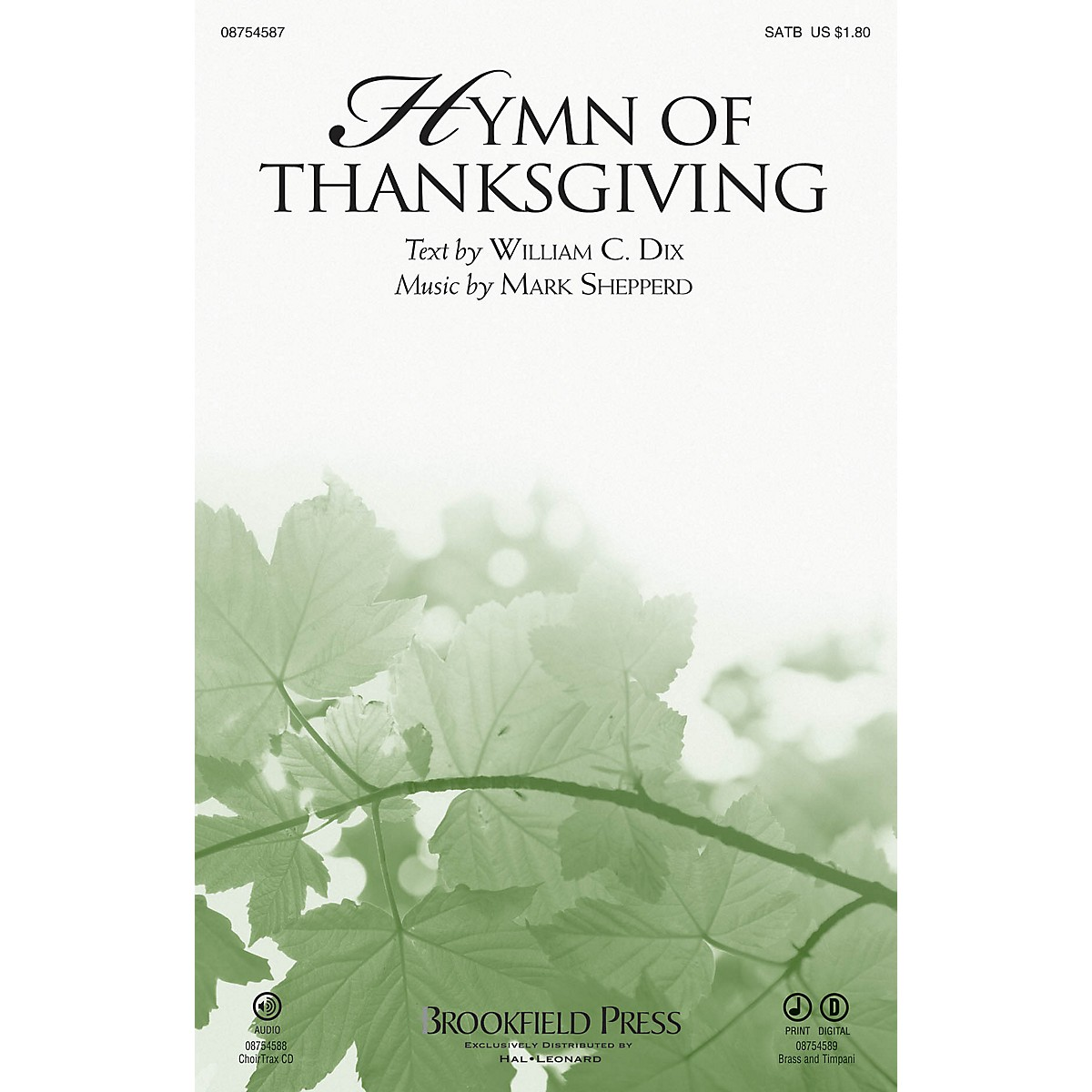 Brookfield Hymn of Thanksgiving SATB composed by Mark Shepperd