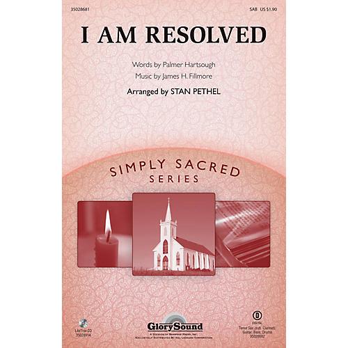 Shawnee Press I Am Resolved SAB arranged by Stan Pethel
