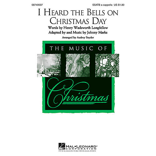 Hal Leonard I Heard the Bells on Christmas Day SSATB A Cappella arranged by Audrey Snyder