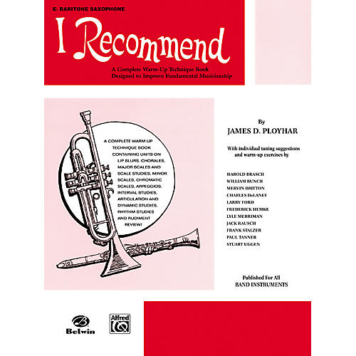 Alfred I Recommend E-Flat Baritone Saxophone