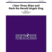 Alfred I Saw Three Ships and Hark the Herald Angels Sing Brass Quintet Score & Parts