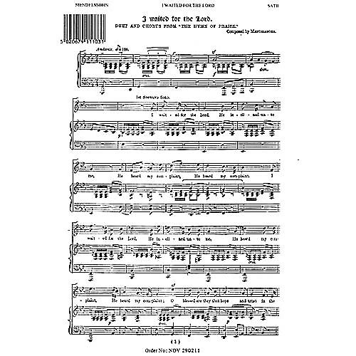 Novello I Waited for the Lord (from The Hymn of Praise) SATB Composed by Felix Mendelssohn