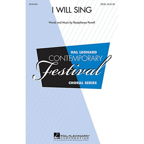 Hal Leonard I Will Sing SATB composed by Rosephanye Powell
