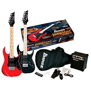 ibanez ijm21m jumpstart mikro electric guitar package black night guitar center. Black Bedroom Furniture Sets. Home Design Ideas