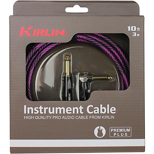KIRLIN IWB Black/Purple Woven Instrument Cable 1/4